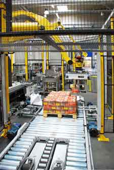 robot package conveyor system